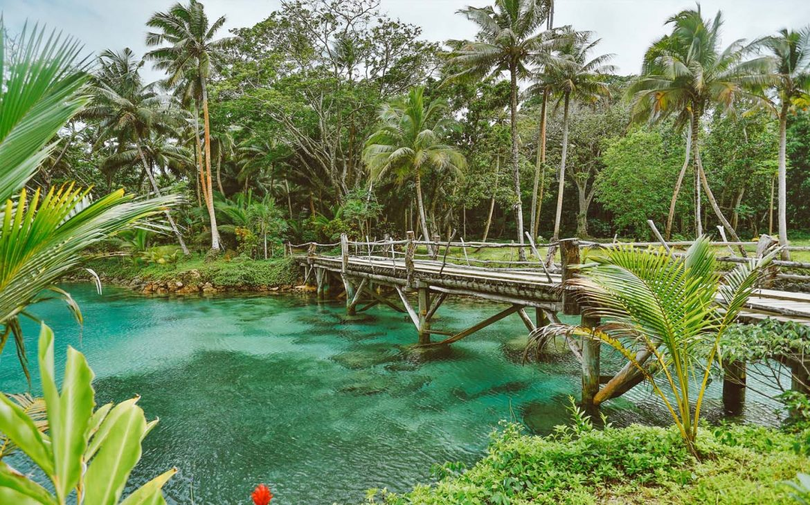 Savasi Resort promotional photo of bridge over water