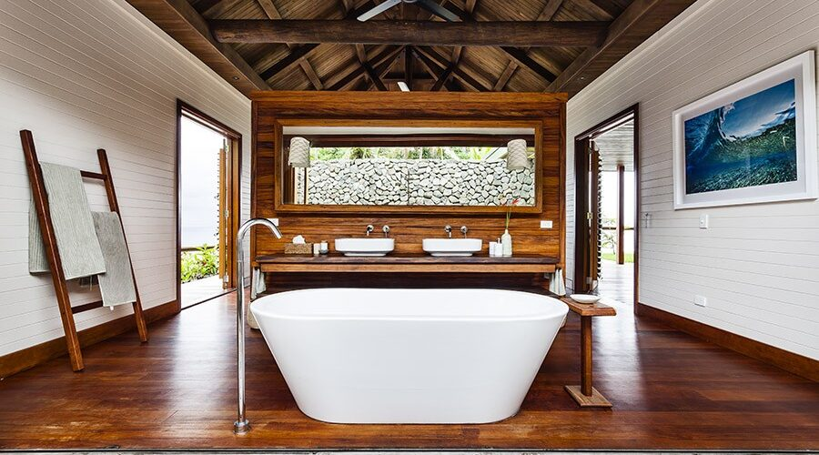 A view of the bath at Tavola Villa, Savusavu.